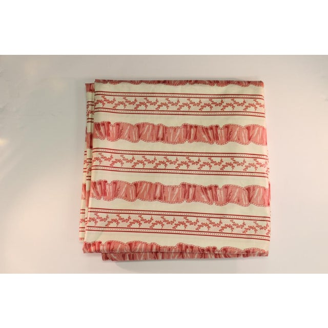 Traditional Pink Floral Patterned Fabric For Sale - Image 3 of 3
