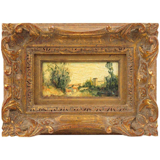 20th Century Alexandre Mediterranean Landscape Miniature Painting For Sale - Image 9 of 9