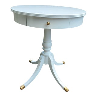 1940s White Pedestal Table For Sale