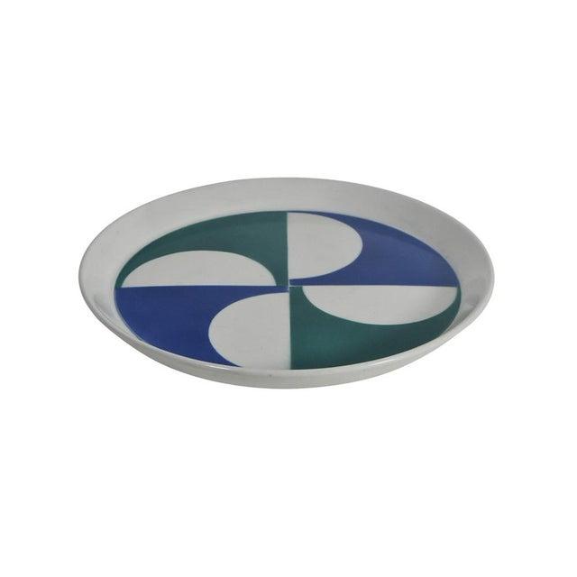 Red Gio Ponti for Franco Pozzi Ceramic Plates For Sale - Image 8 of 12
