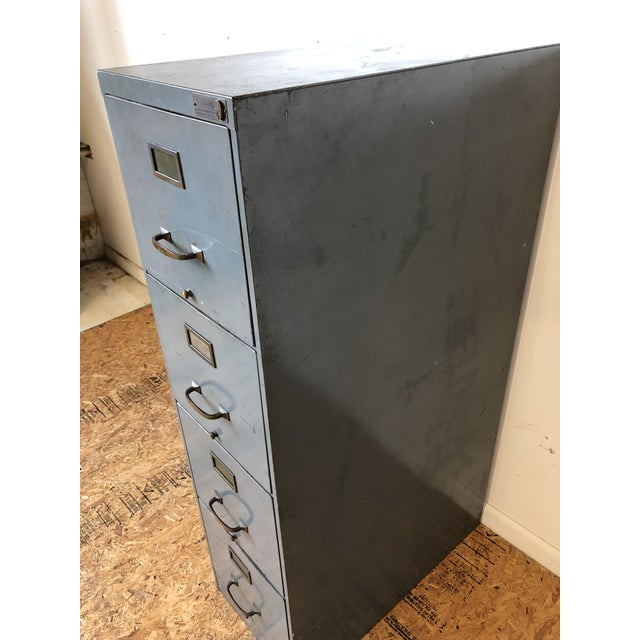Vintage Lyon Metal Products Steel File Cabinet For Sale - Image 4 of 12