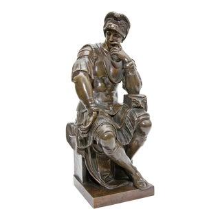 Bronze Sculpture Lorenzo De Medici After Michelangelo 19th Century Grand Tour For Sale