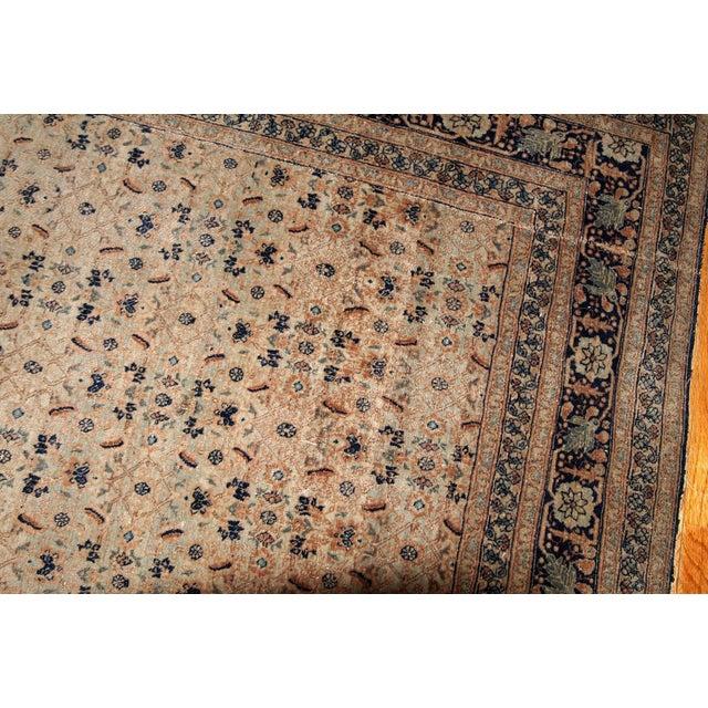 Late 19th Century 1880s Handmade Antique Persian Tabriz Hajalili Rug 4.2' X 6.5' For Sale - Image 5 of 13