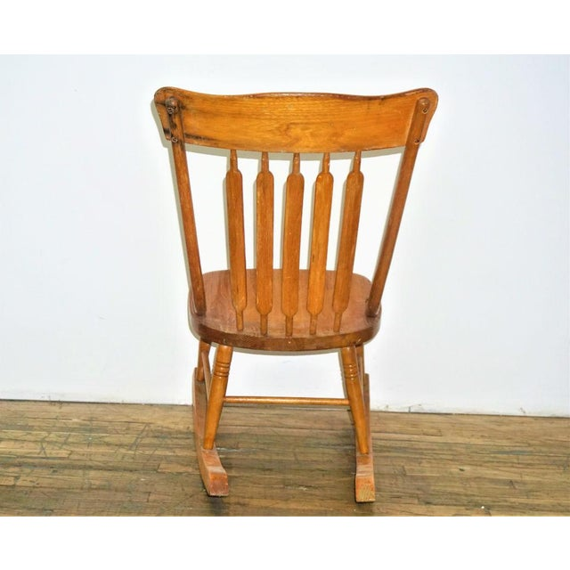 Vintage Wood Rocking Chair - Image 4 of 8
