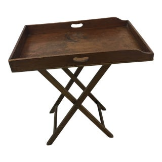 19th Century Antique English Butler's Tray Table For Sale