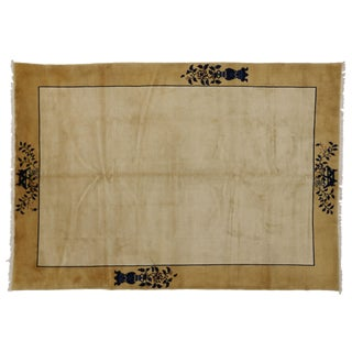 1930s Vintage Chinese Rug - 6′10″ × 9′9″ For Sale