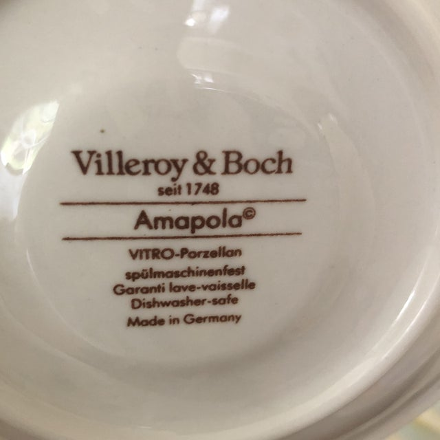 1980s Villeroy & Boch Amapola Cup & Saucers - Set of 8 For Sale - Image 9 of 11