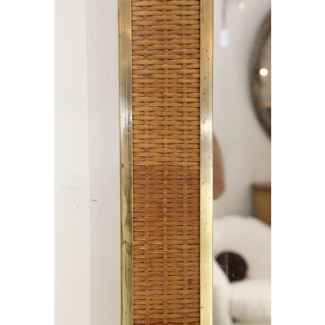 Two Large French Braided Rattan Frame Mirrors For Sale In Houston - Image 6 of 10