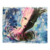 Image of Contemporary Abstract Portrait Painting For Sale