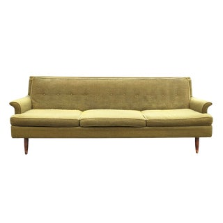 Midcentury Modern Sofa With Tufted Back For Sale