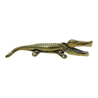English Brass Alligator Nut Cracker