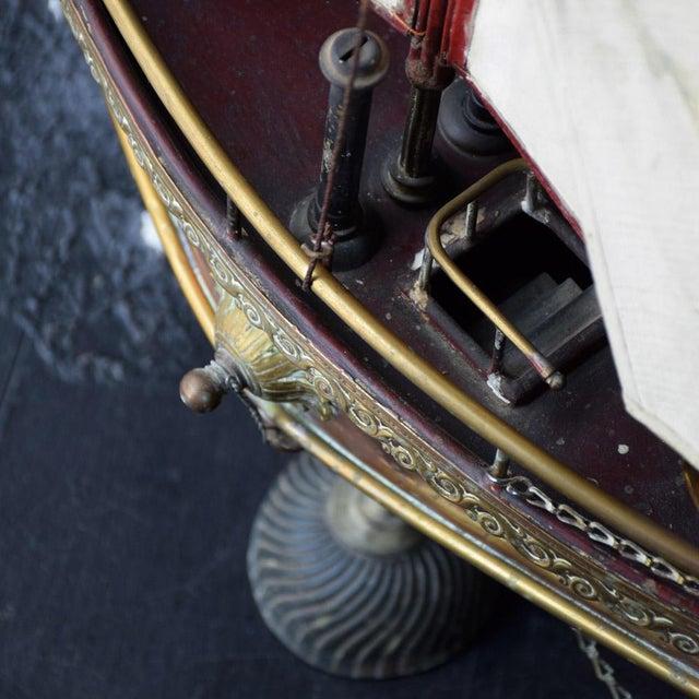 Copper 19th Century Votive Copper Sea Vessel For Sale - Image 8 of 13
