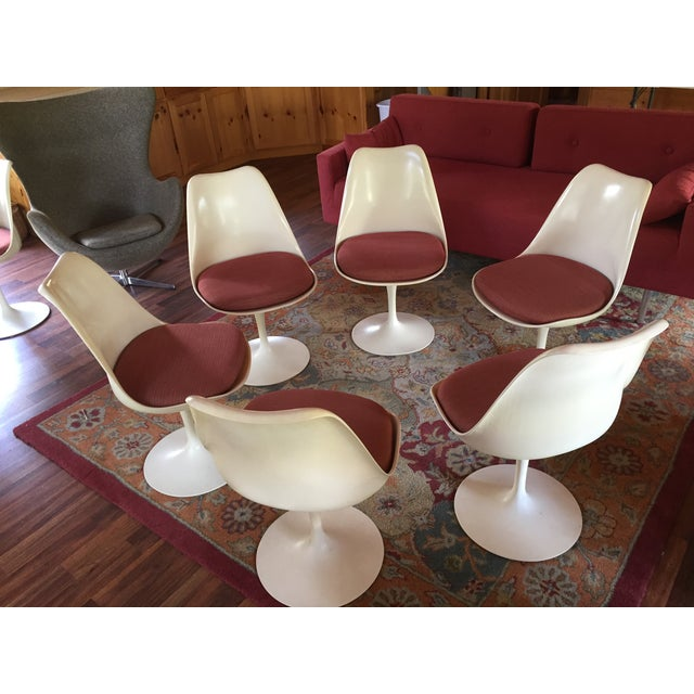 1950s Vintage Saarinen Chairs - Set of 6 For Sale - Image 6 of 6