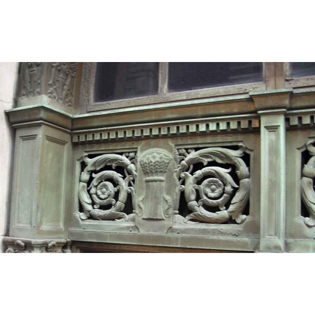 Ornate Bronze Palladian Window Transom For Sale - Image 9 of 10