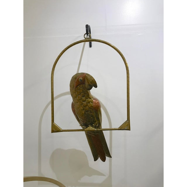1970s Vintage Sergio Bustamante Brass and Copper Parrot For Sale - Image 10 of 10