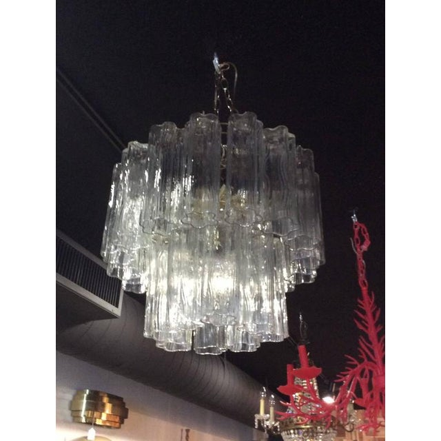 Vintage Murano Glass Chandelier Tronchi For Sale - Image 5 of 12