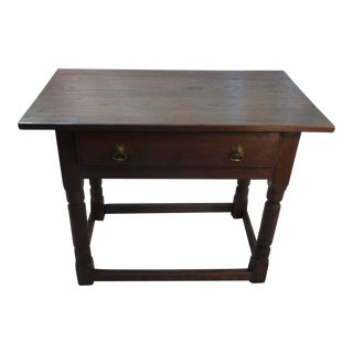 19th Century English Traditional Oak End Table For Sale
