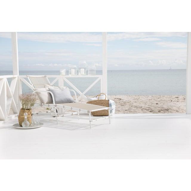 Josephine Exterior Sun Lounger - Dove White For Sale - Image 4 of 8