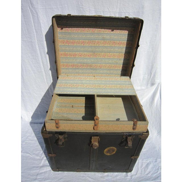 Vintage Steamer Trunk - Image 5 of 7