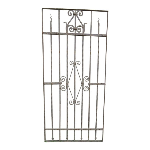 Antique Victorian Iron Gate Architectural Salvage - Image 1 of 7