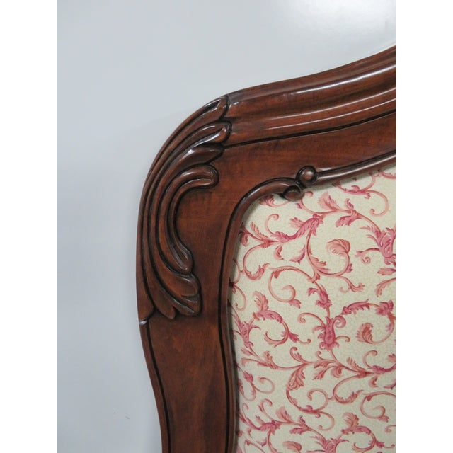 Rococo Mahogany Carved Queen Size Headboard For Sale - Image 4 of 5