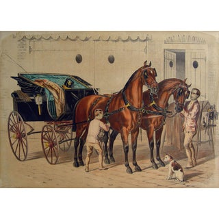 Fine Carriage Horses Lithograph For Sale