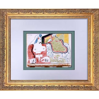 Le Corbusier Lithograph in Color Original Sign Ltd. Ed. + Archival Frame Included For Sale