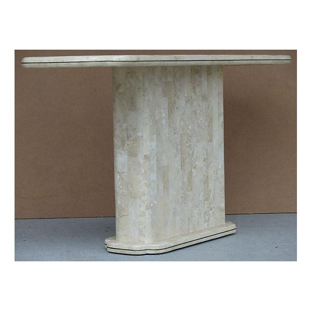 Maitland-Smith Style Tessellated Stone Console - Image 3 of 8