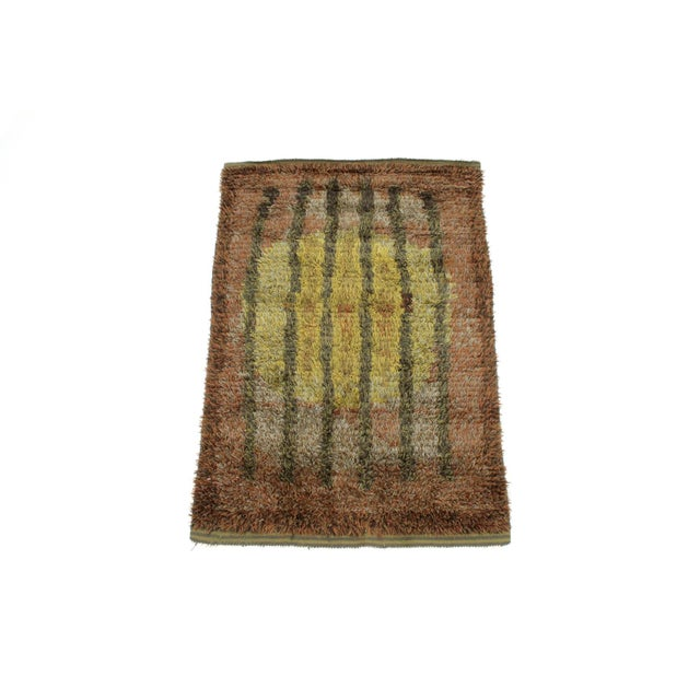 Graphic Finnish Rya Rug For Sale - Image 11 of 11