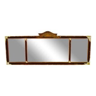 Victorian Gesso Three Panel Mantel Mirror