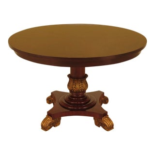 Maitland Smith Regency Mahogany Round Dining Table For Sale