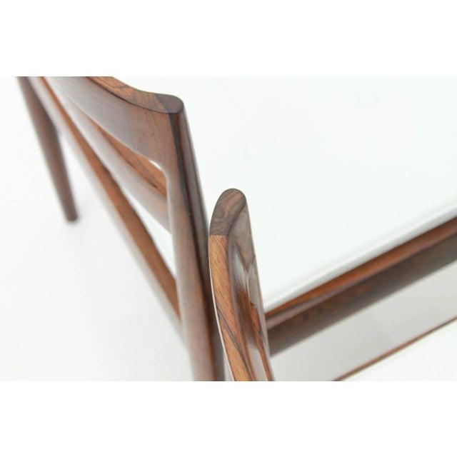 "Mid-Century Modern Kai Kristiansen Dining Chairs ""Universe 301"" for Magnus Olesen Denmark 1960s For Sale - Image 3 of 13"