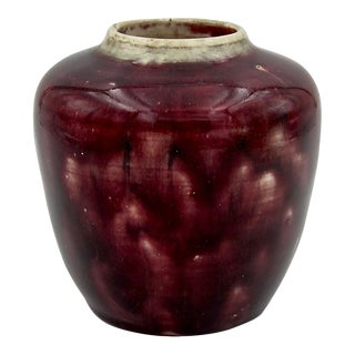 Charles Volkmar Arts & Crafts Glazed Ceramic Vase For Sale