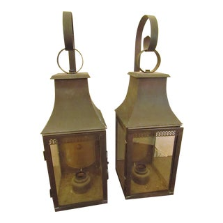 Lantern Style Vintage Wall Sconces - A Pair