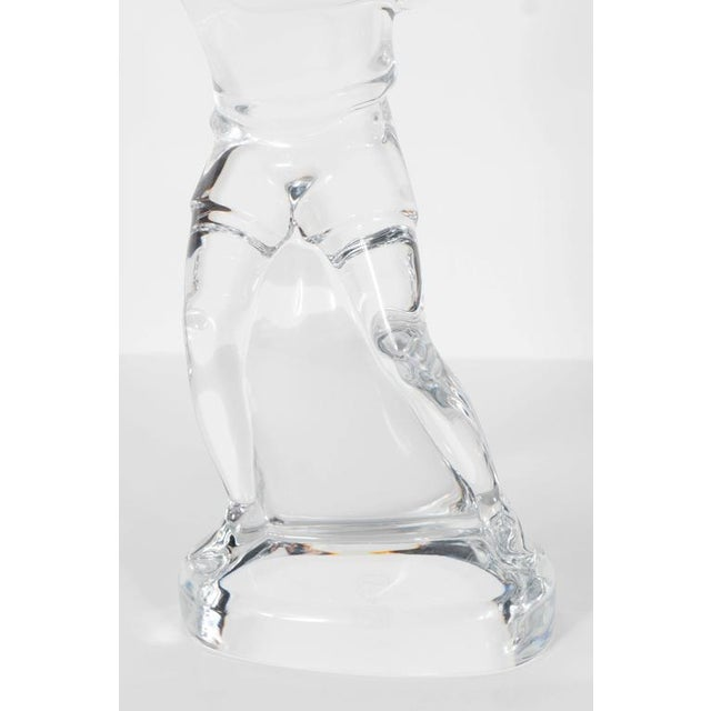 Glass Baccarat Art Glass Male Tennis Player Crystal Figurine For Sale - Image 7 of 9