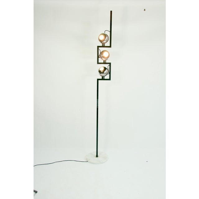 Metal Angelo Lelii Floor Lamp for Arredoluce For Sale - Image 7 of 8