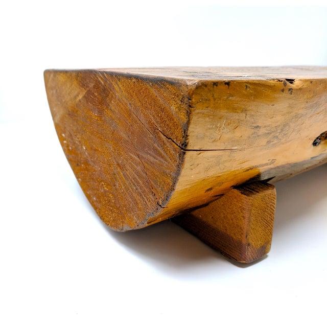 Vintage Folk Art Half-Log Cribbage Board For Sale In Sacramento - Image 6 of 10