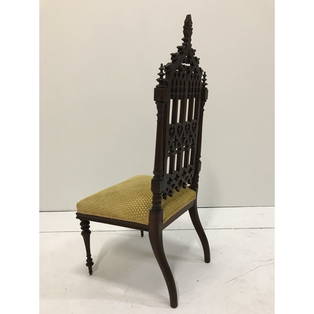19th Century Victorian Gothic Period Petite Side Chair For Sale - Image 9 of 11