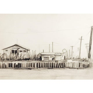 Abandoned Marina Drawing For Sale