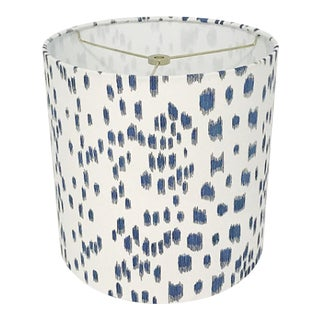 Blue Animal Print Tapered Lamp Shade For Sale