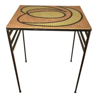 Mid-Century Modern Metal & Mosaic Table