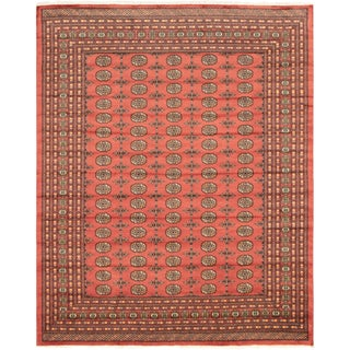 "Pakistani Hand-Knotted Bokhara Rug-8' X 9'11"" For Sale"