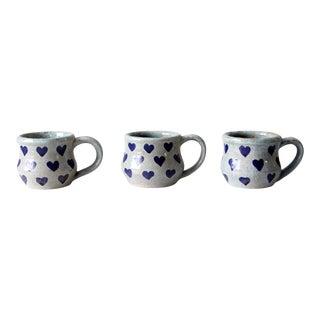 Vintage Metzger Studio Pottery Mugs Set of 3 For Sale