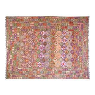 Afghan Handmade Kilim - 8′6″ × 11′6″ For Sale