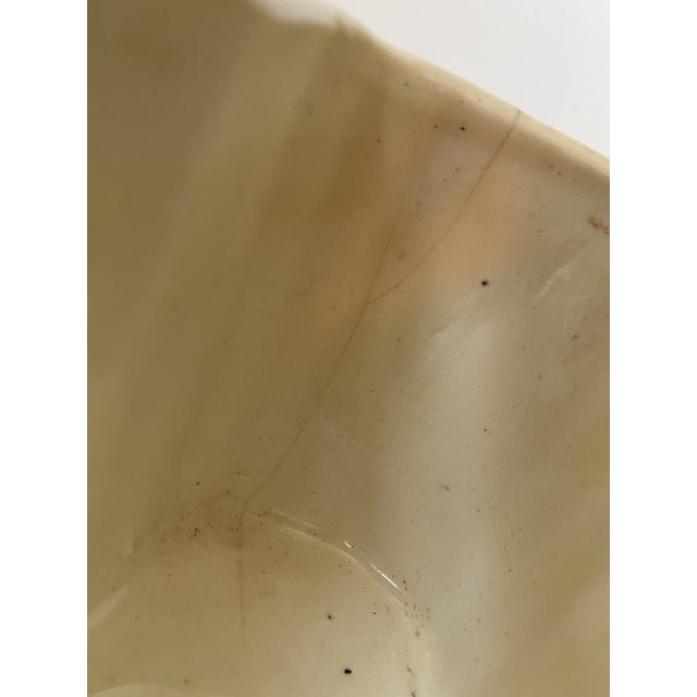 Ceramic Vintage Ceramic Planter With Yellow Rose For Sale - Image 7 of 8