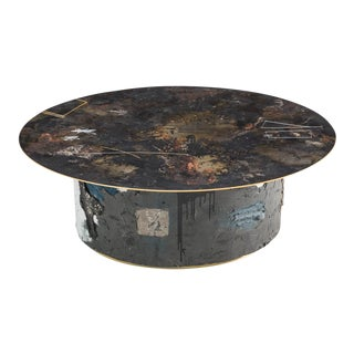 Concrete and Steel Low Table Ii, Usa, 2019 For Sale