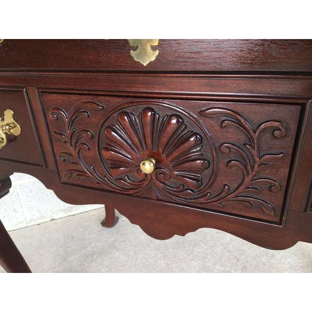 Councill Craftsmen French Chippendale Style Solid Mahogany 5 Drawer Lowboy For Sale In Philadelphia - Image 6 of 11