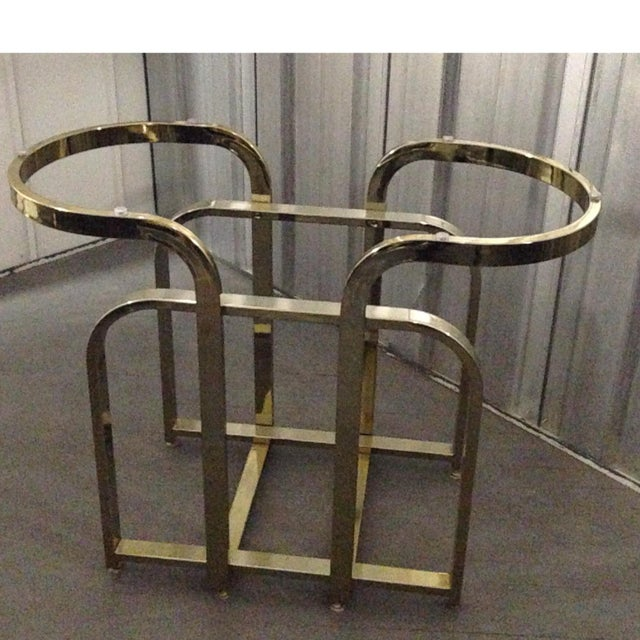 Dia Milo Baughman Brass Table Base - Image 2 of 4
