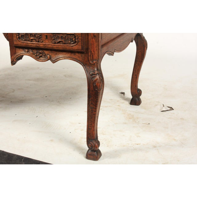 Brown 1930s French Louis XV-Style Parquet Top Writing Desk For Sale - Image 8 of 9