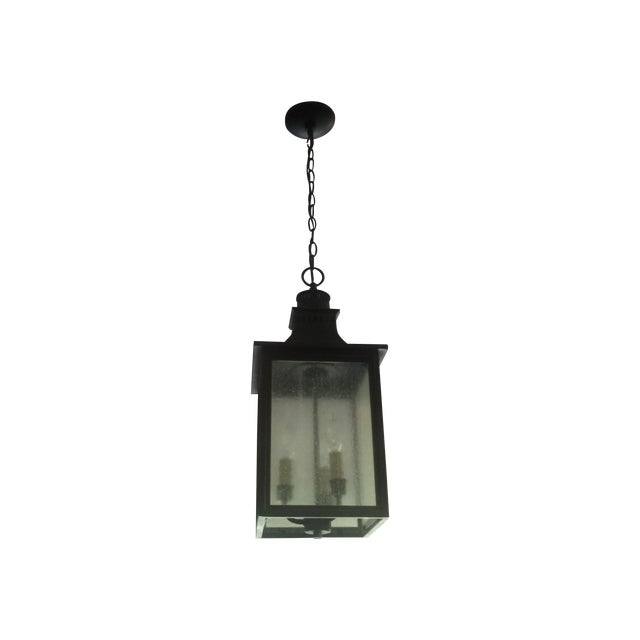 3-Light Hanging Lantern Chandeliers - A Pair - Image 4 of 5